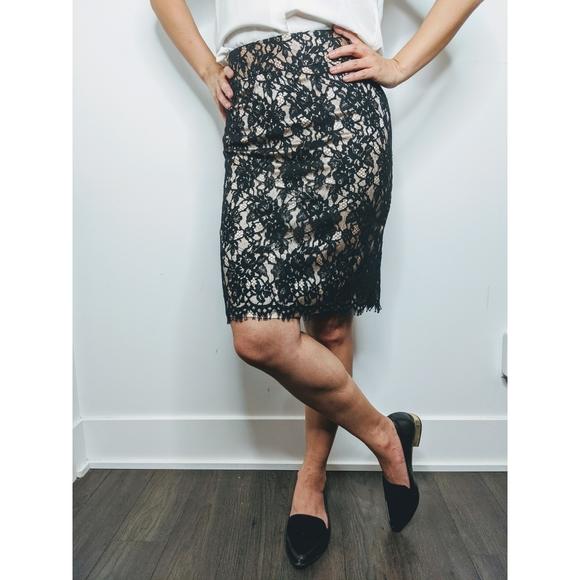 Banana Republic Dresses & Skirts - Banana Republic Lace Midi Pencil Skirt